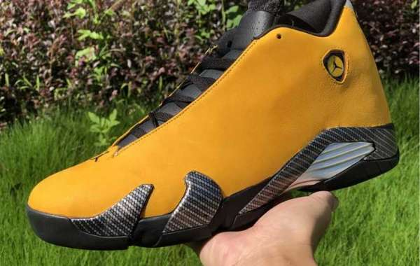 "2020 Air Jordan 14 SE ""Reverse Ferrari"" University Gold/Black For Cheap"