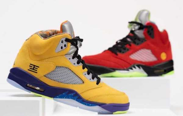"Color combination! This pair of AJ5 is more surprising than expected!Air Jordan 5 ""What The"" CZ5725-700"