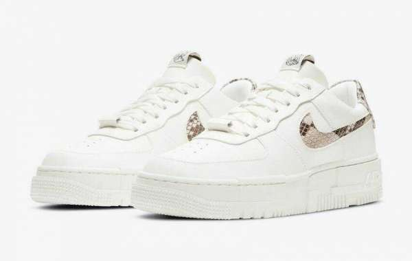 2020 Nike Air Force 1 Pixel SE White Snakeskin Print Coming Soon