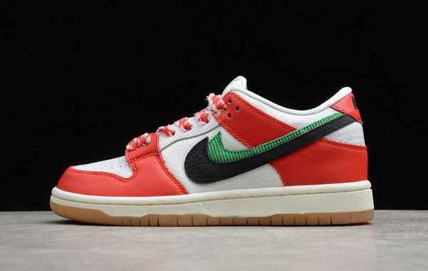 "Frame Skate x Nike SB Dunk Low ""Habibi"" Chile Red/White-Lucky Green-Black 2020 Newest CT2550-600"